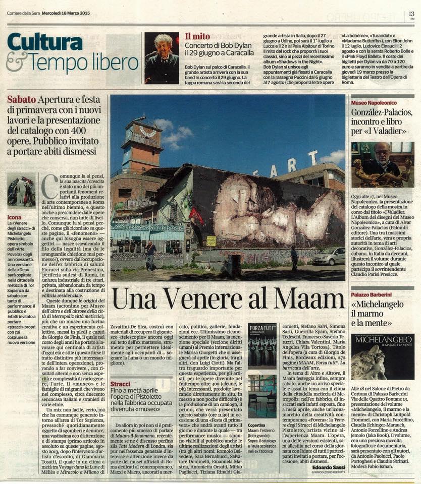 Articolo Corriere della Sera