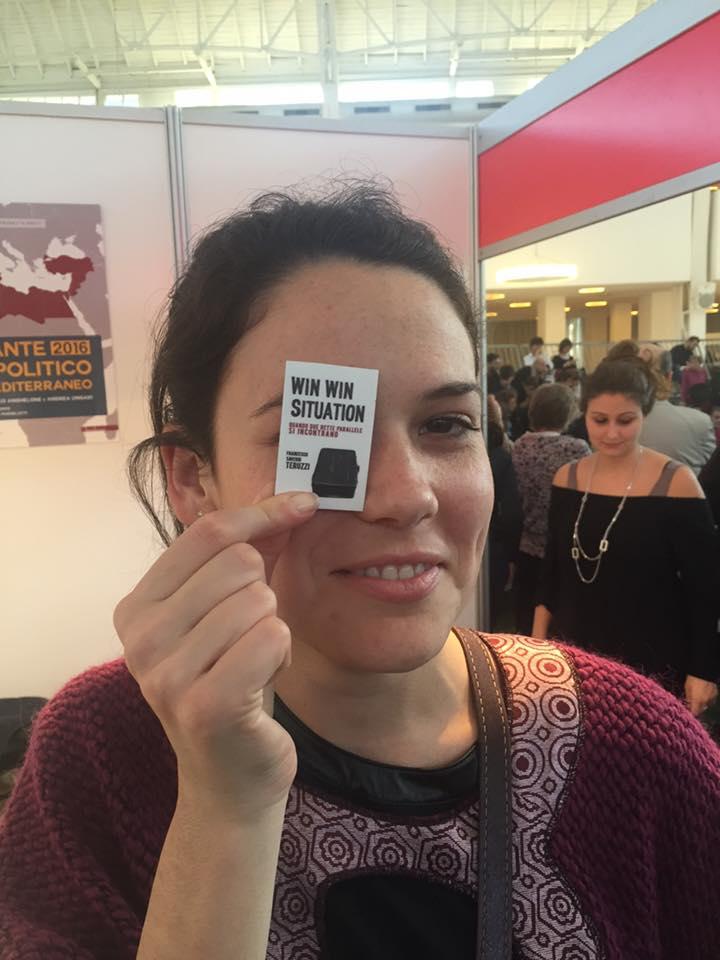 Laura Salas Redondo e la miniatura-calamita di Win Win Situation